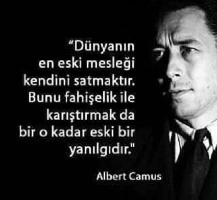 Albert Camus, özlü sözler, güzel sözler, anlamlı sözler, siyah zemin,