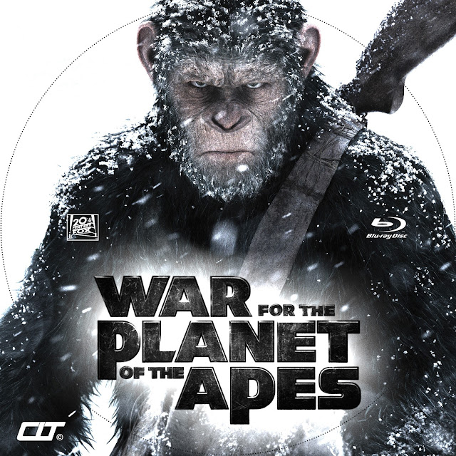 War For The Planet Of The Apes Bluray Label