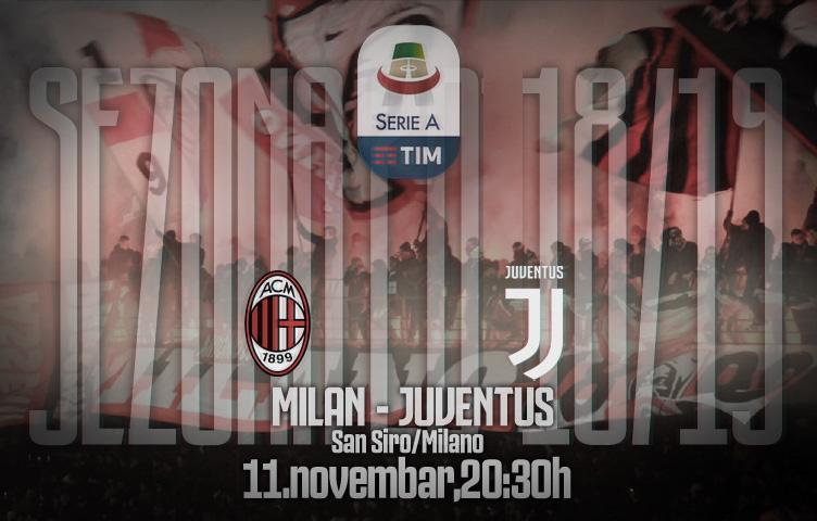 Serie A 2018/19 / 12. kolo / Milan - Juventus, nedelja, 20:30h
