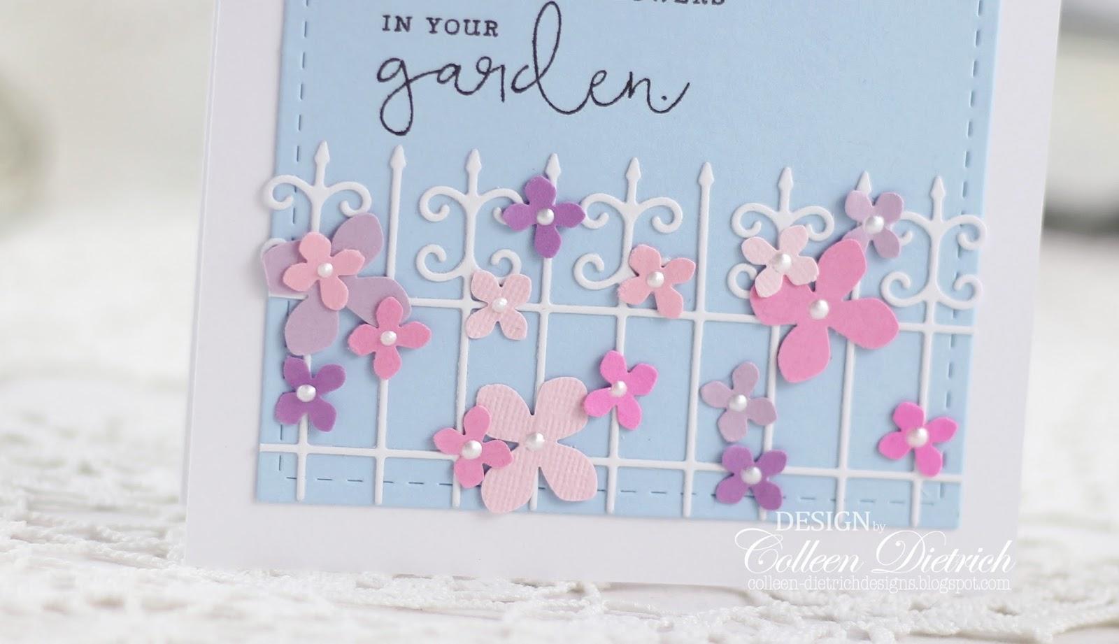 Flowers On A Garden Fence Colleen Dietrich Designs