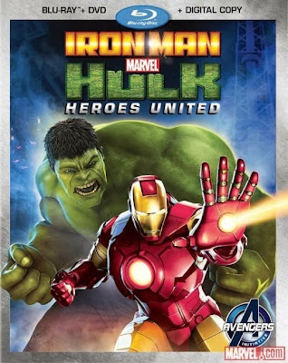 Poster Of Hollywood Film Iron Man & Hulk Heroes United (2013) In 300MB Compressed Size PC Movie Free Download At worldfree4u.com