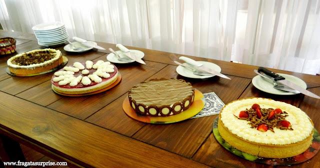 Tortas holandesas servidas na cafeteria do Parque Histórico de Carambeí Paraná