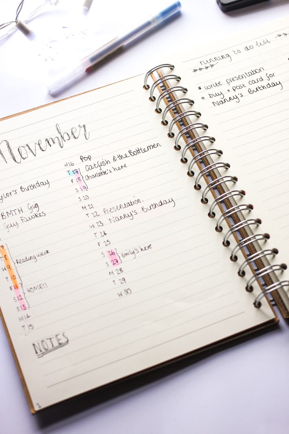 Bullet Journal for University Setup | www.hannahemilylane.com