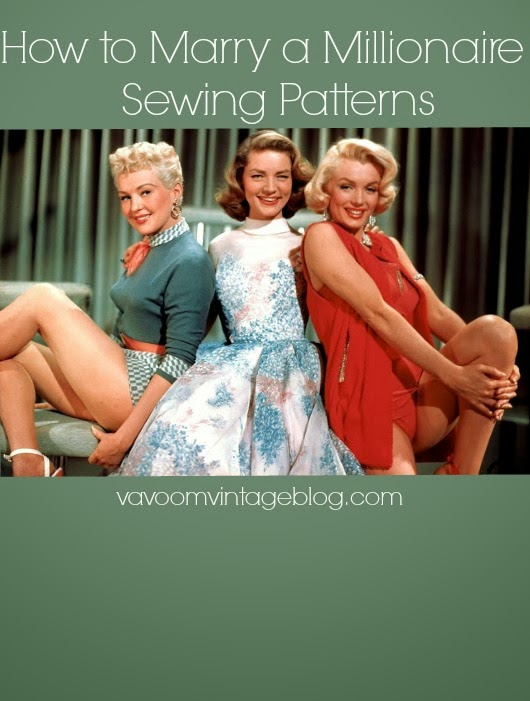 Sewing patterns from How to Marry a Millionaire from Va-Voom Vintage.net
