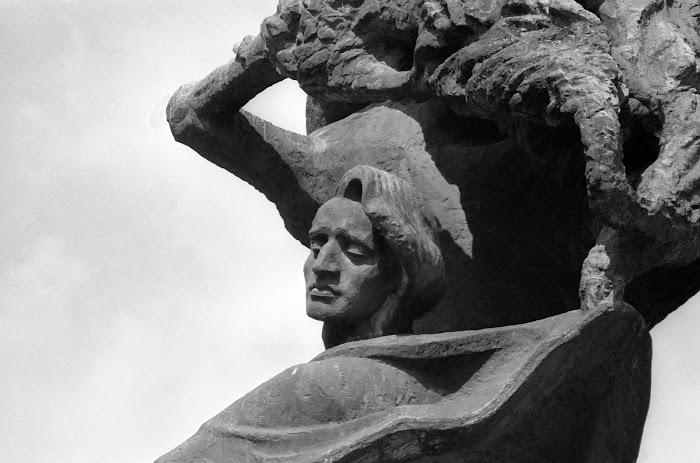Varsovie, parc Lazienki, Chopin, © L. Gigout, 1990