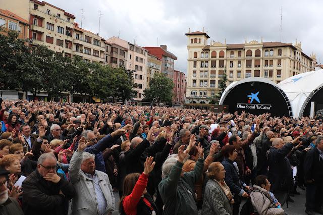protesta de pensionistas y jubilados en Barakaldo