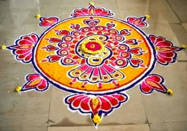 Freehand Rangoli Designs for Diwali 2013