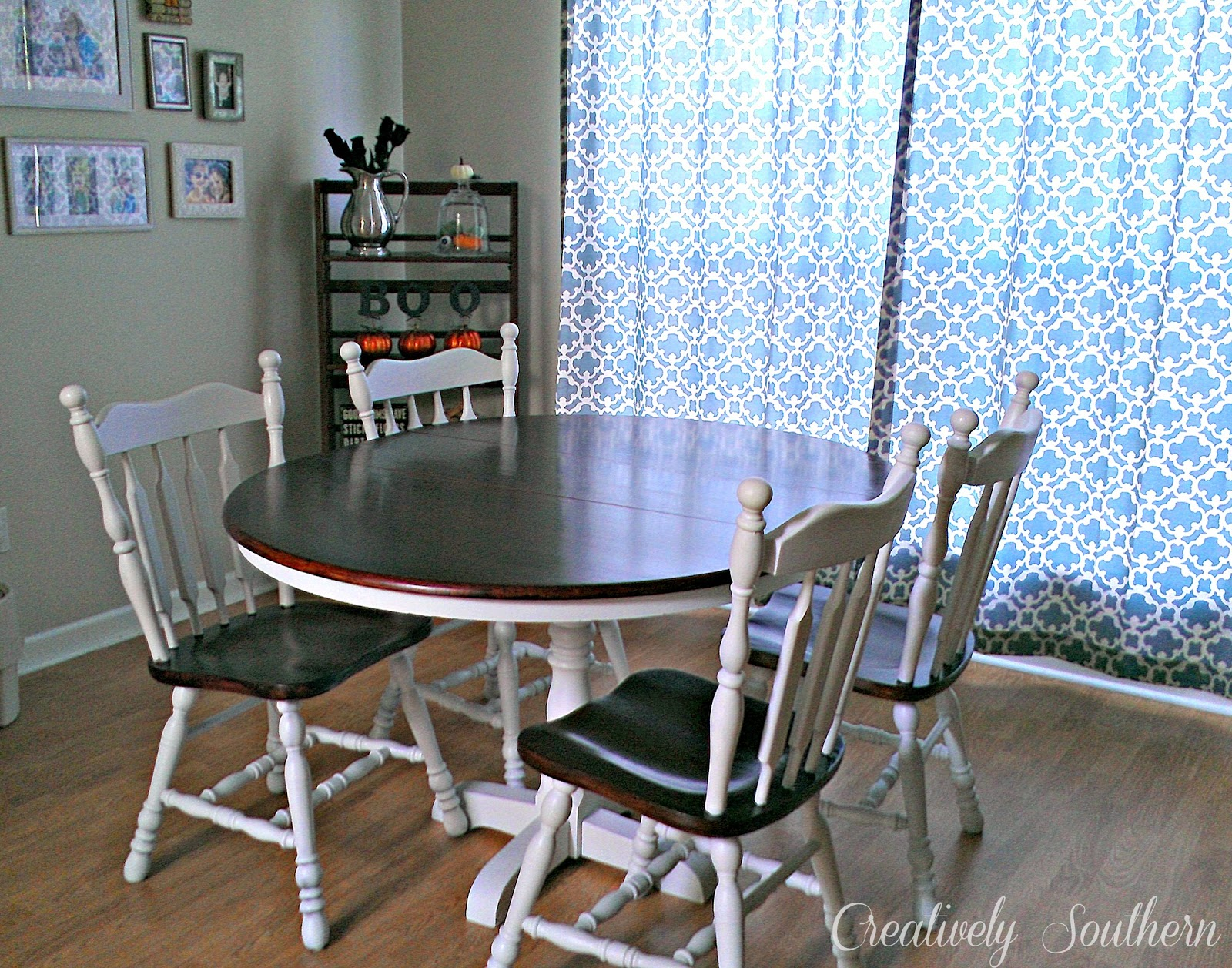 dining room table finished. Black Bedroom Furniture Sets. Home Design Ideas