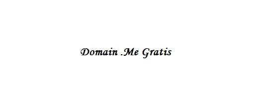 Cara mendapatkan domain TLD .Me Gratis