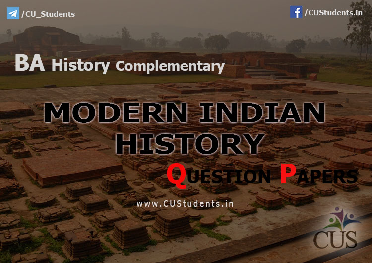 Modern Indian History Previous Question Papers