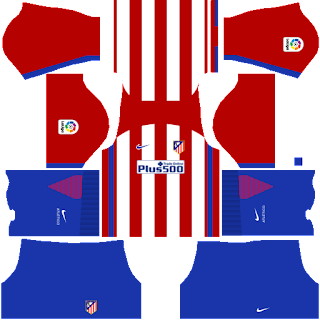 camiseta atletico de madrid dream league soccer