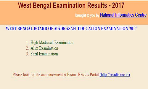 WBBME High Madrasah, Alim and fazil Examination 2017 Results