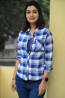 Actress Payal Rajput Stills At 5Ws Movie Logo Launch