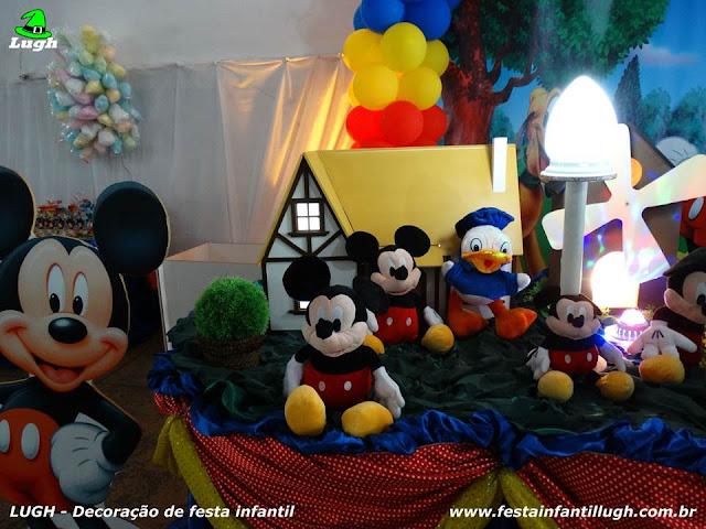 Mesa decorada infantil Mickey Mouse