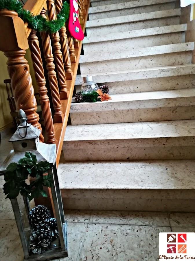 decoración navideña con una tulipa