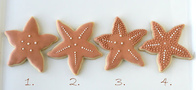 how to decorate starfish cookies