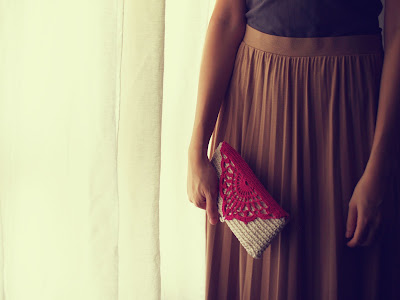 Handmade clutch and bag