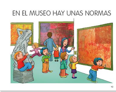 reglas del museo, no tocar