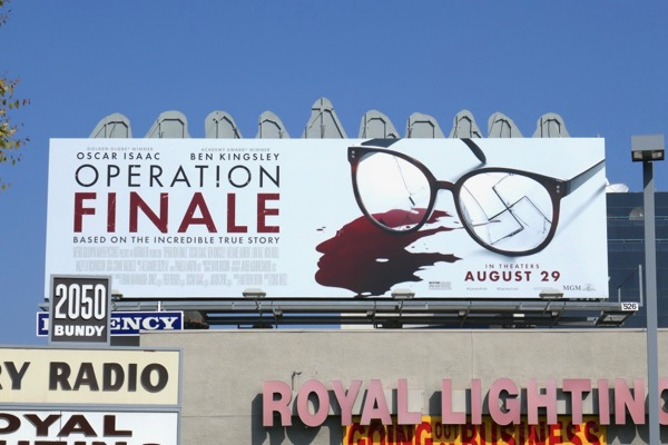 Operation Finale movie billboard
