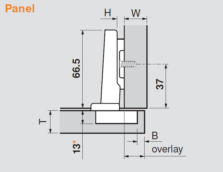 The measurements from the Ikea Boxes and standard drilling pattern from Barker Doors are: