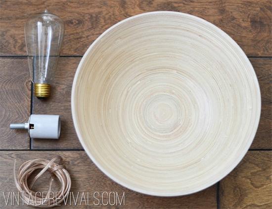 luminária de madeira, luminária feita com tigela, luminária reciclada, tigela reciclada, repurposed bowl, faça você mesmo, upcycling, decoração, reciclagem, decor, diy