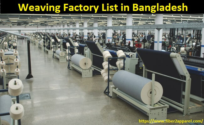 Weaving factory list in Bangladesh