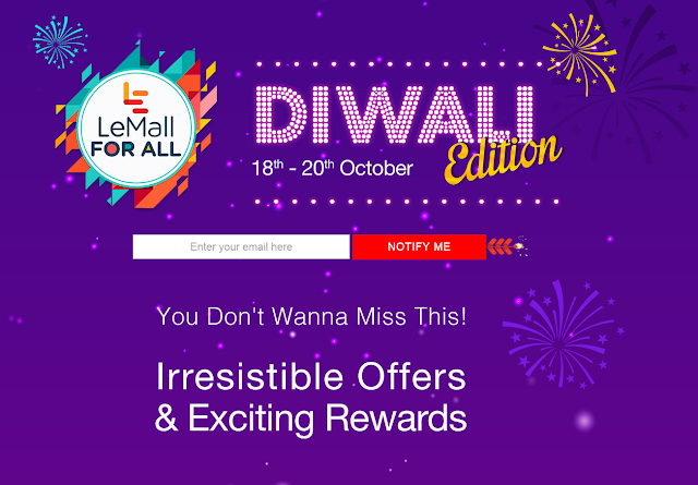 LeEco's LeMall Diwali Offer Sale on October 18th - 20th 2016