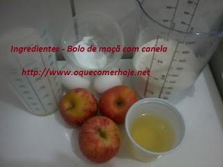 Bolo de maçã de liquidificador