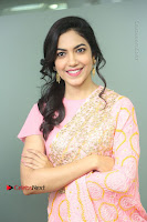 Actress Ritu Varma Pos in Beautiful Pink Anarkali Dress at at Keshava Movie Interview .COM 0092.JPG