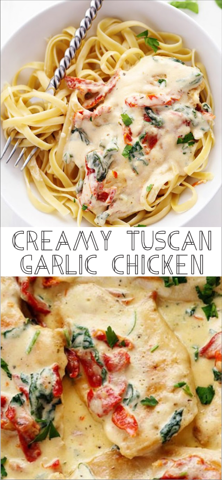 Creamy Tuscan Garlic Chicken Floats Co
