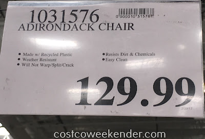 Deal for the Leisure Line Classic Adirondack Chair at Costco