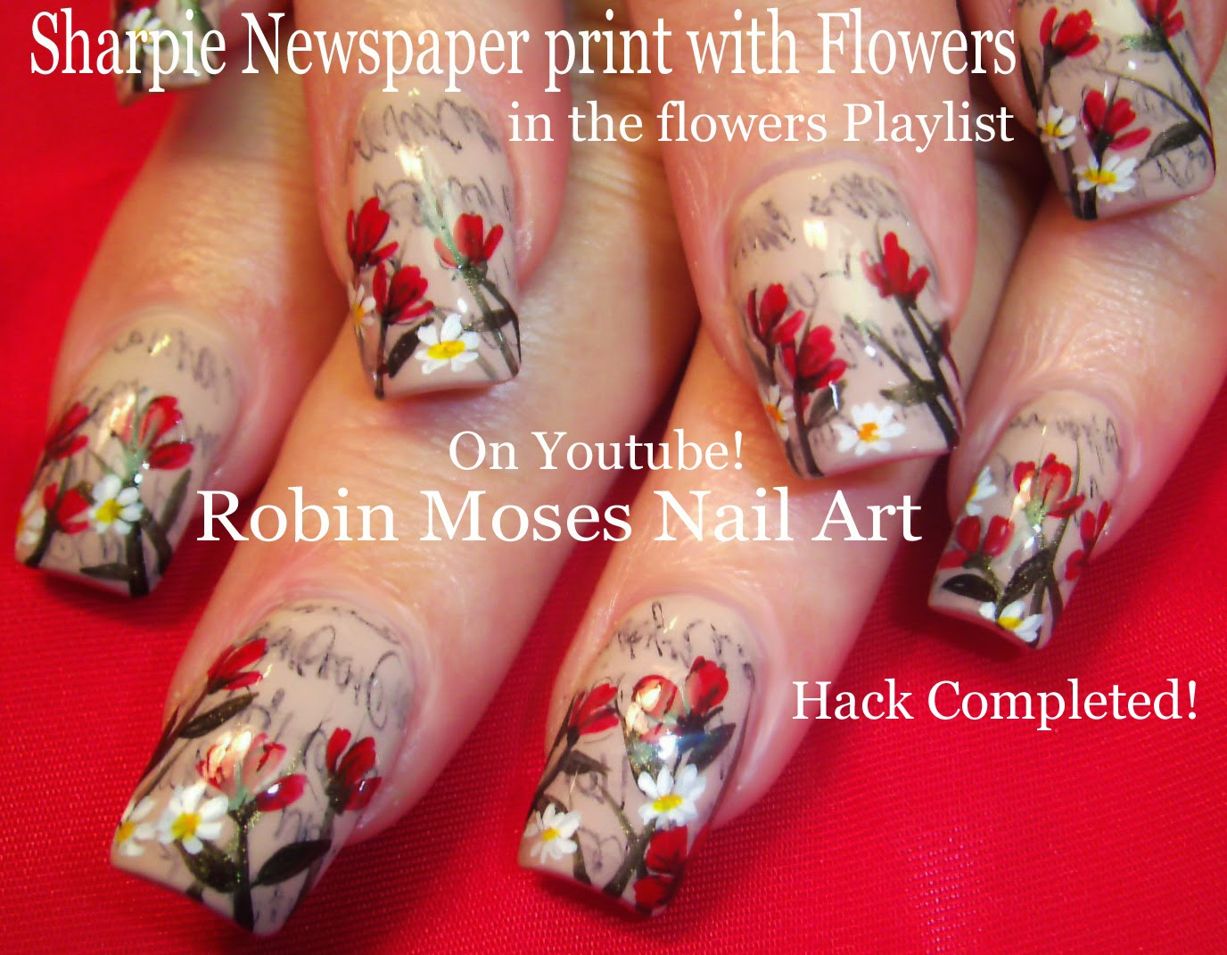 Robin Moses Nail Art: Sharpie Nail Art Hack! Easy Nail Art
