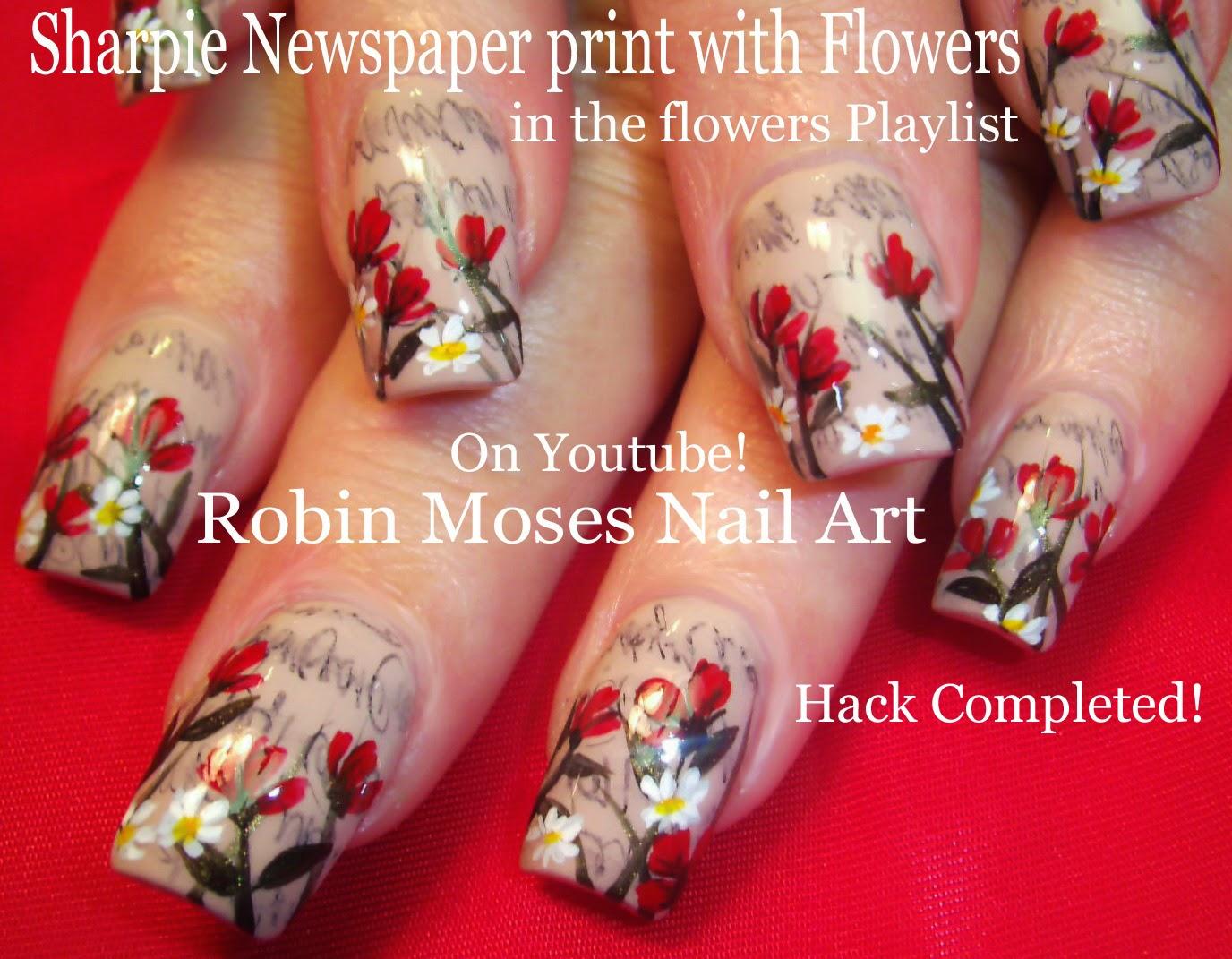 Robin Moses Nail Art: Sharpie Nail Art Hack! Easy Nail Art ...