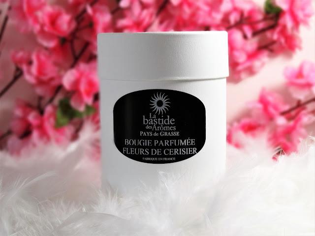avis Fleurs de Cerisier de La Bastide des Arômes, blog bougie, blog parfum, blog beauté