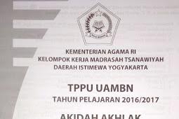 Soal TPPU UAMBN MTS DIY 2017 – Aqidah Akhlak
