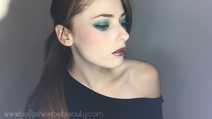 Maquillaje en tono verde.   Inspirado en Jasmine.