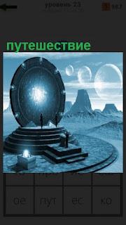 вертикальный круг на постаменте с помощью которого путешествие во времени