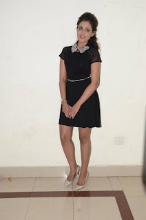 Actress Madhu Shalini Latest Pictures in Black Short Dress at tur Talkies Audio Launch  0024.jpg