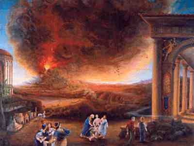 The history of the eruption of mount vesuvius and the destruction of the city of pompeii