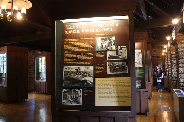 Exhibit on Civilian Conservation Corps at Black Hawk State Historic Site