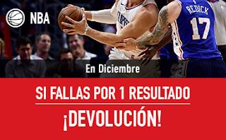 sportium promocion NBA: En Diciembre Combinadas con seguro