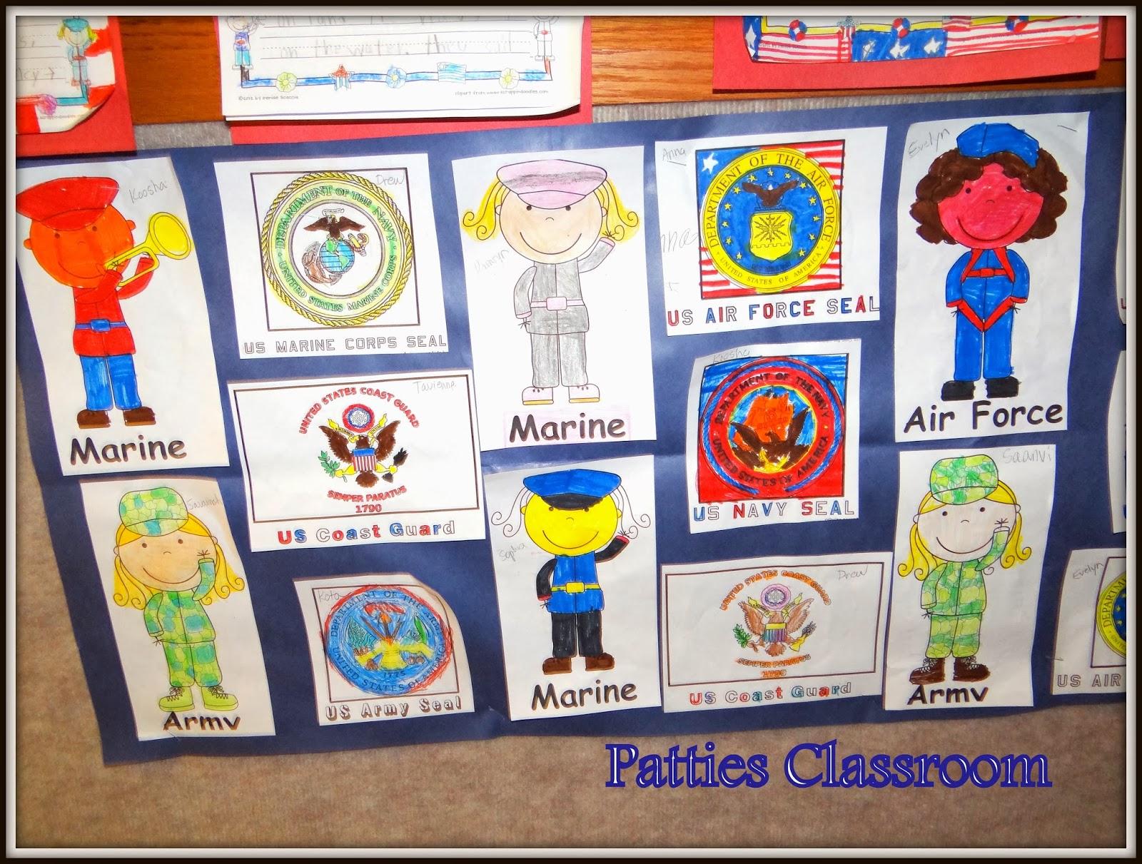 Patties Classroom Veterans Day Art And Activities For Kids