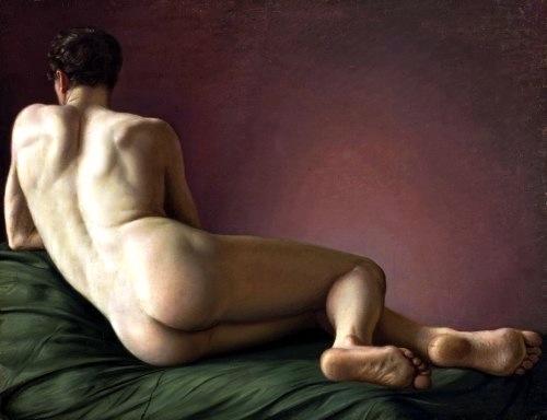Aleksander Lesser: Nudo maschile sdraiato