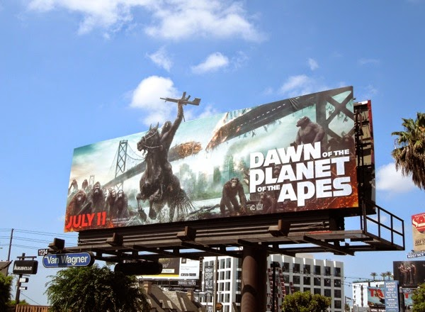 Dawn of the Planet of the Apes special extension billboard