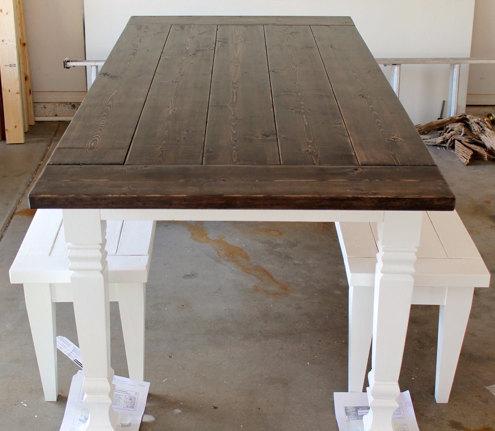 Farmhouse Gilbert Gilbert Custom Farmhouse Tables Latest Project Happy