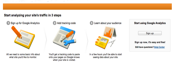 Gooogle Analytics home