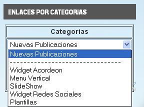 Mostrar un widget desplegable de categorías para blogger