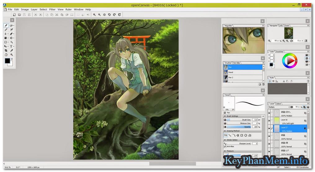 Download OpenCanvas 6.2.12 Full Key, Phần mềm vẽ tranh chuyên nghiệp trên máy tính