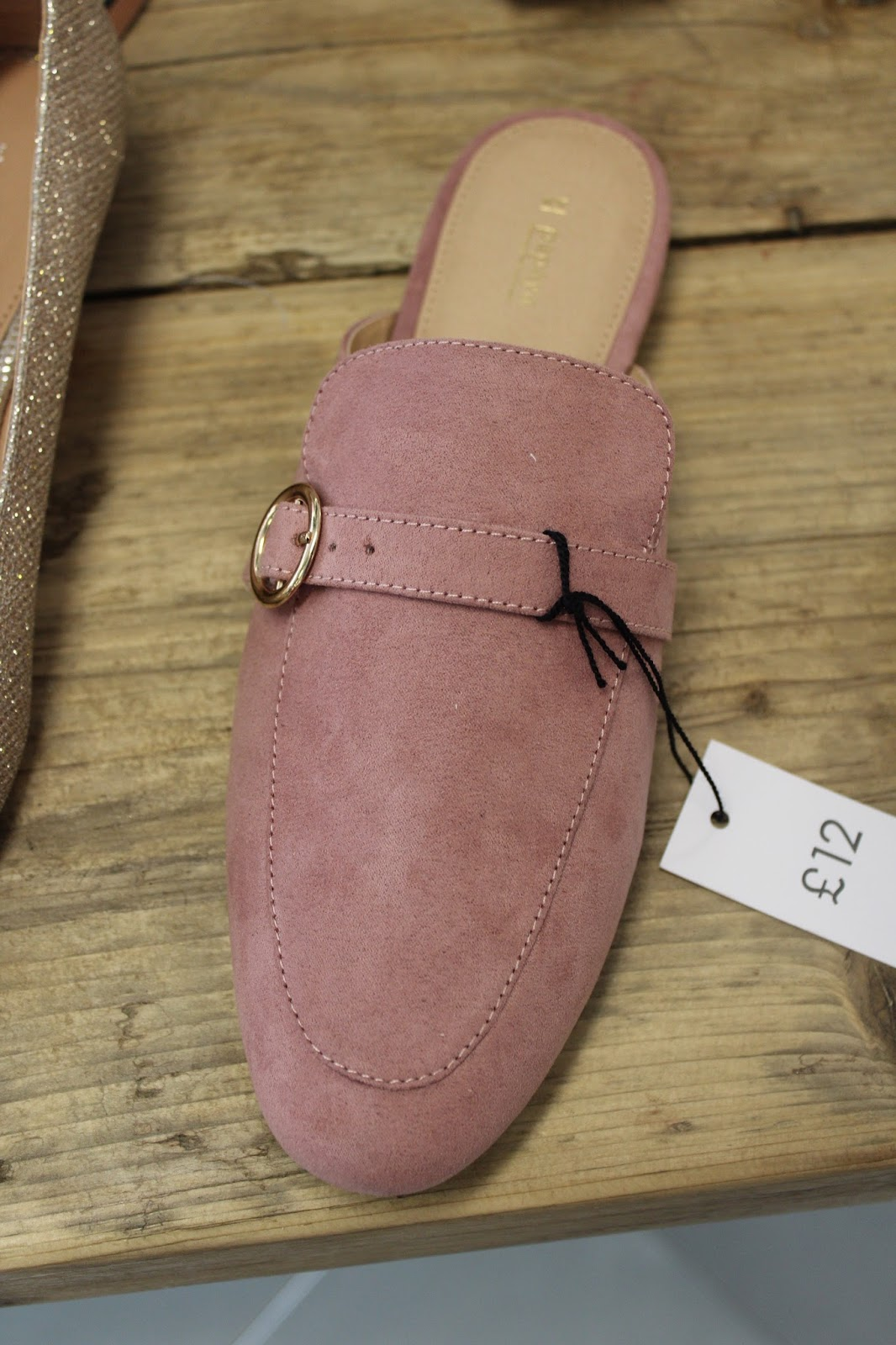 e2f02362d20  Not Yet  Powder pink goes with many colours so it is a winner for this  season to own a pair of mules like this by Matalan.