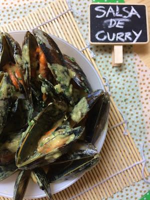 mejillones al curry receta